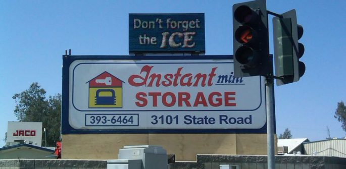 The Instant Storage business sign.